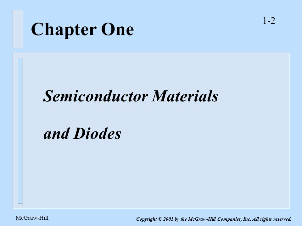 electronic circuit analysis and design second edition ppt videochapter one semiconductor materials and diodes mcgraw hill