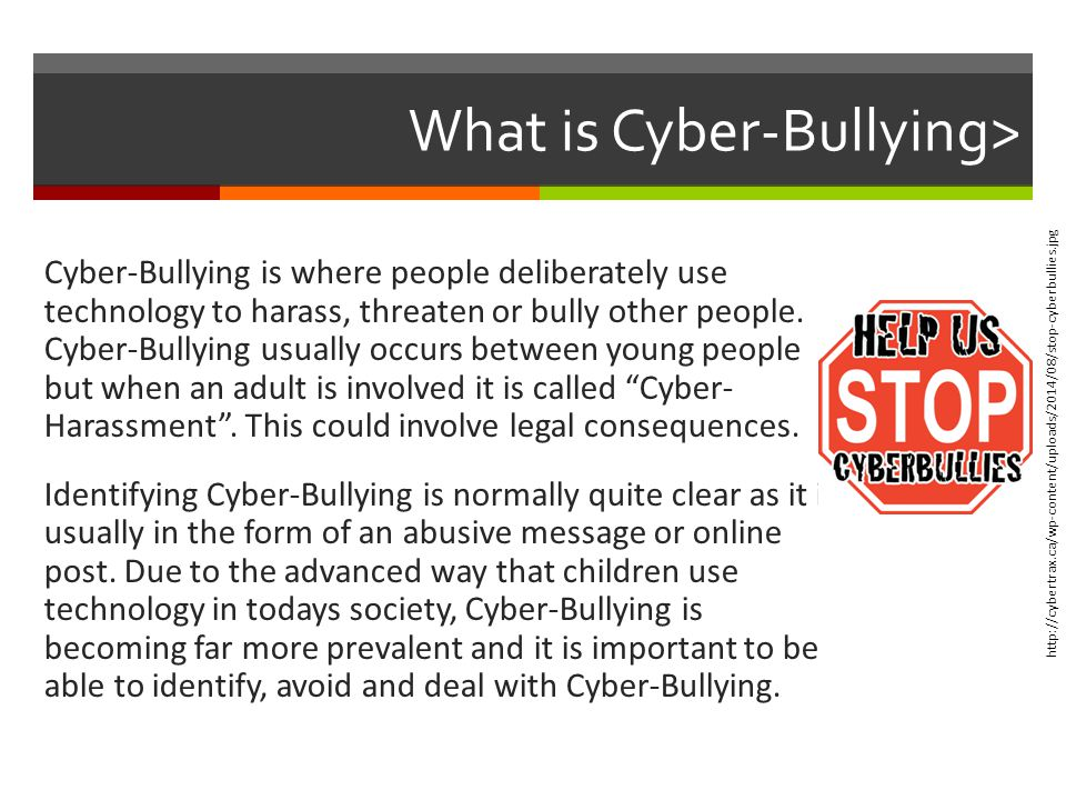 What are the consequences of cyberbullying for the bully