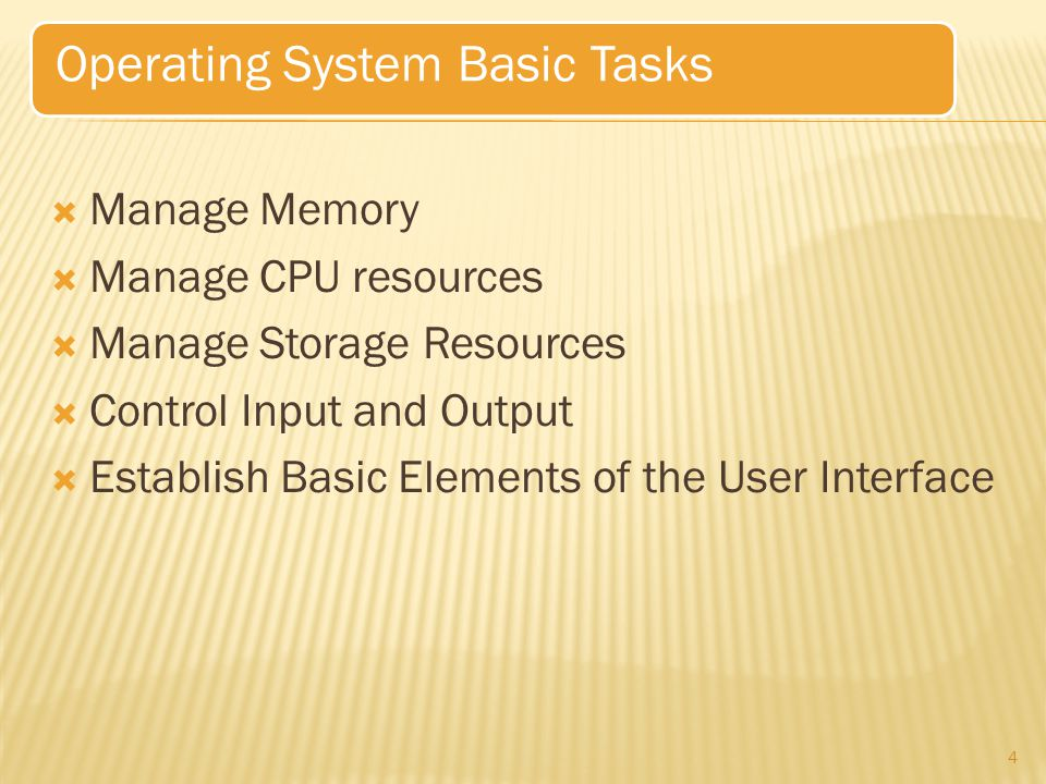 Operating System Basic Tasks
