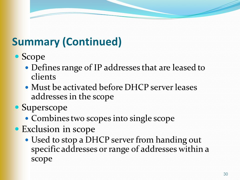 DHCP Dynamic Host Configuration Protocol  - ppt video online