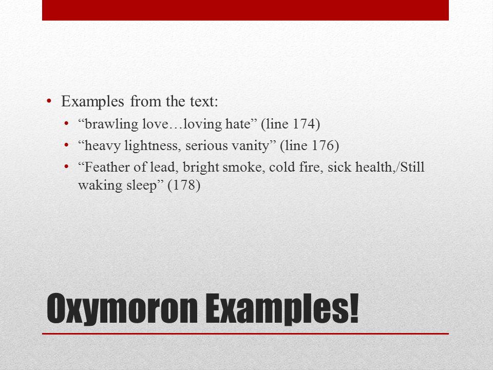Examples Of Oxymorons Images Example Cover Letter For Resume