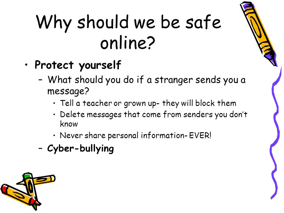 Why should we be safe online