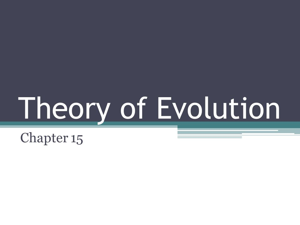 Theory of Evolution Chapter 15