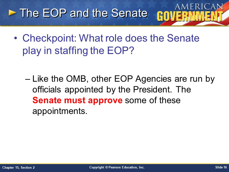 The EOP and the Senate Checkpoint: What role does the Senate play in staffing the EOP