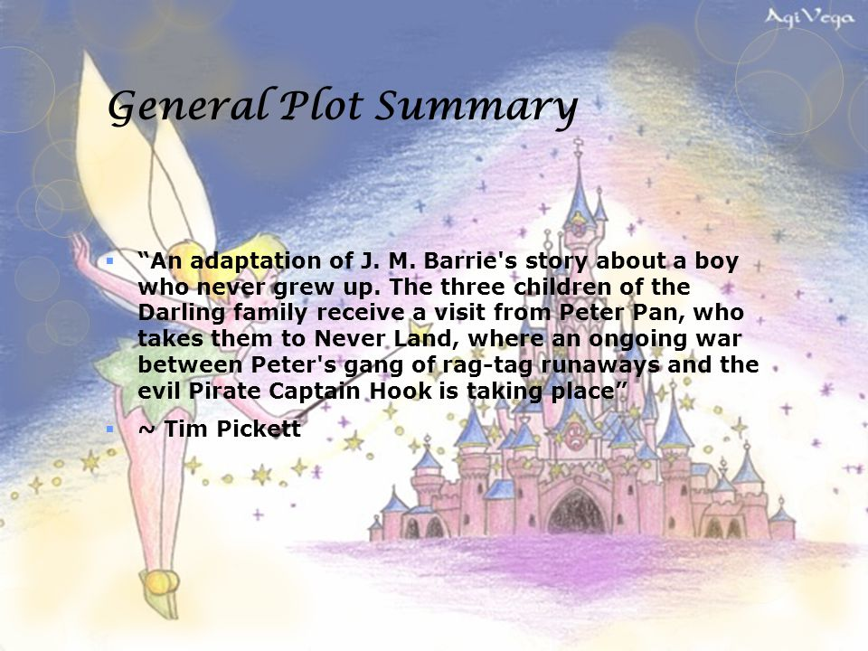 peter pan story book summary