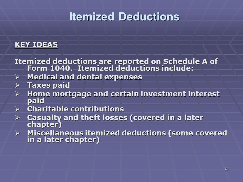 Liberty Tax Service Online Basic Ine Course Lesson 8 Ppt. 76 Itemized Deductions Key Ideas. Worksheet. 1040 Itemized Deductions Worksheet At Clickcart.co