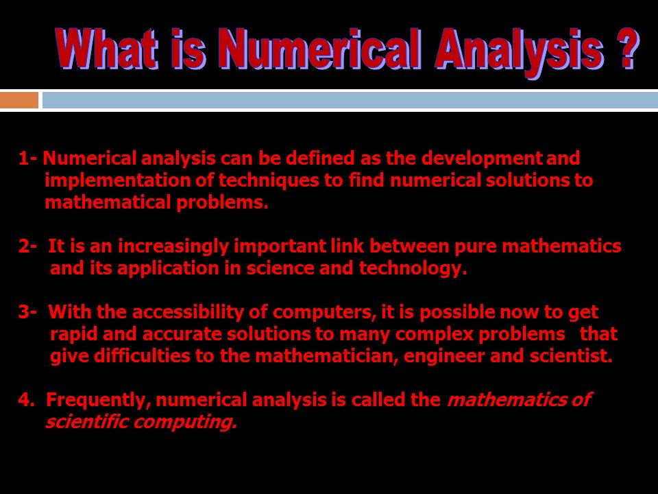 Math-254 Numerical Methods. - ppt download