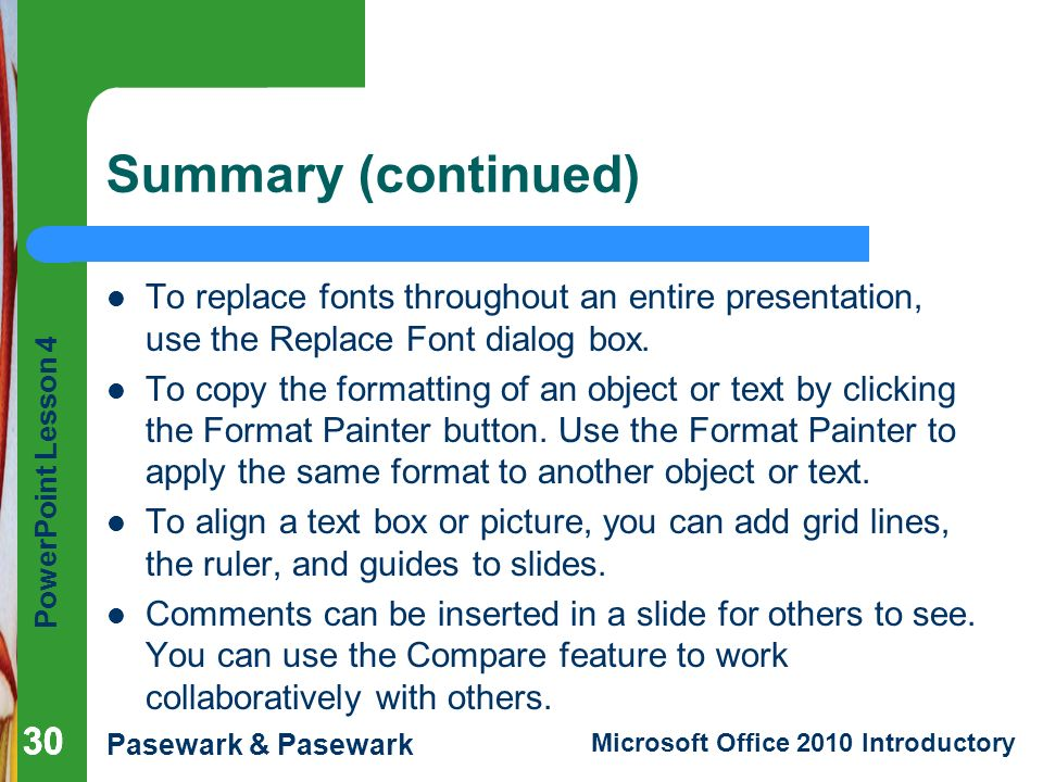 PowerPoint Lesson 4 Expanding on PowerPoint Basics - ppt