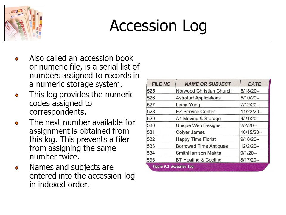 advantages and disadvantages of numerical filing system