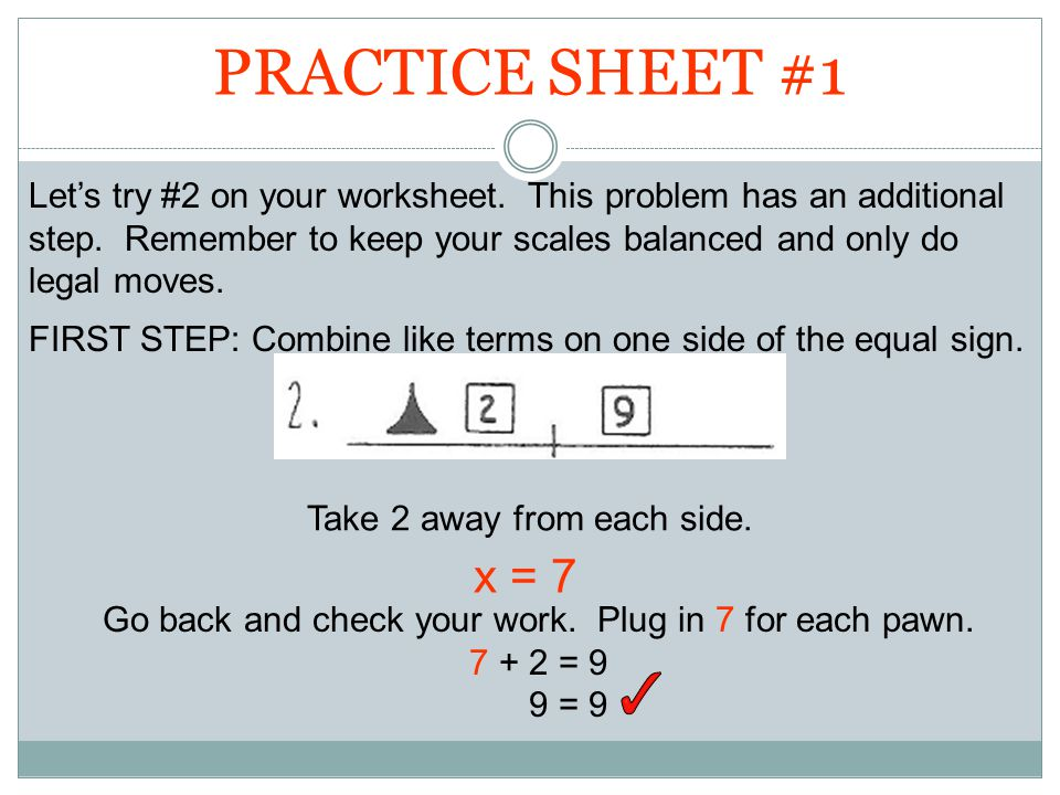 Solve the following equations for x. 5x = 45 4x + 5 = ppt video ...