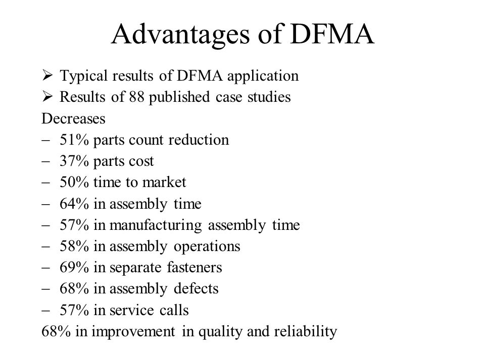dfma case study examples