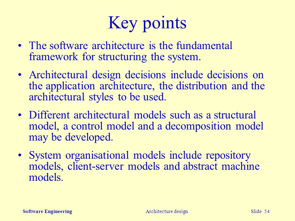 Software Engineering Architectural Design Ppt Video Online Download
