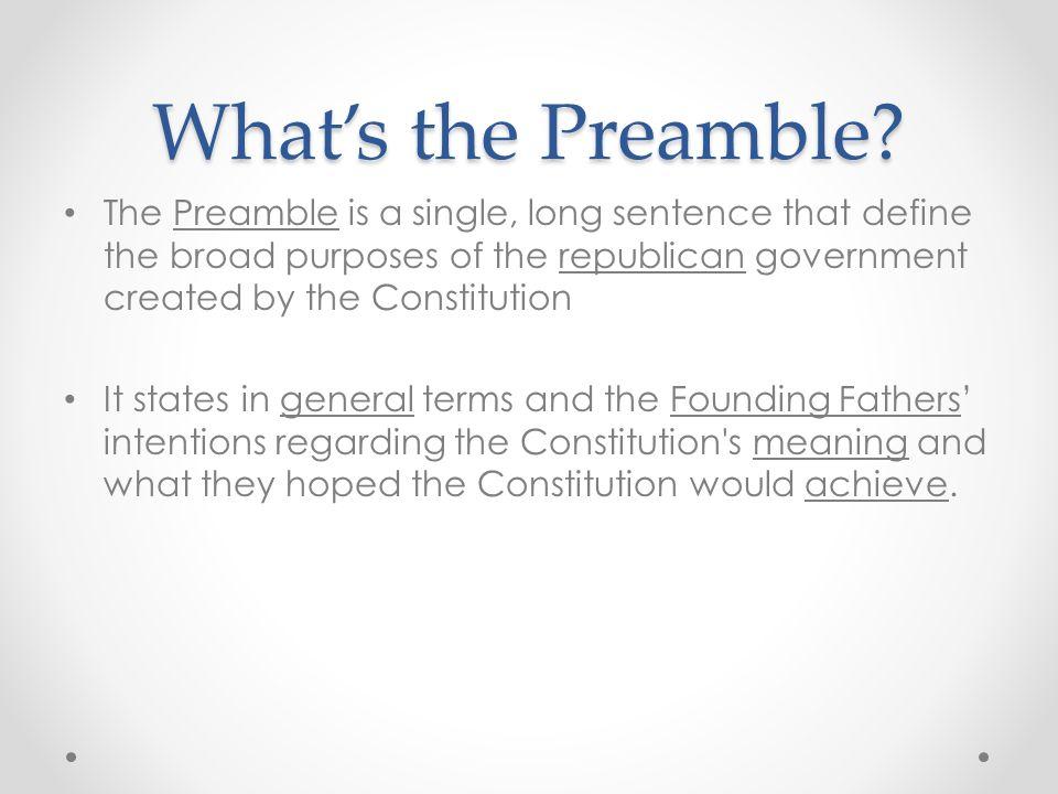 preamble in a sentence