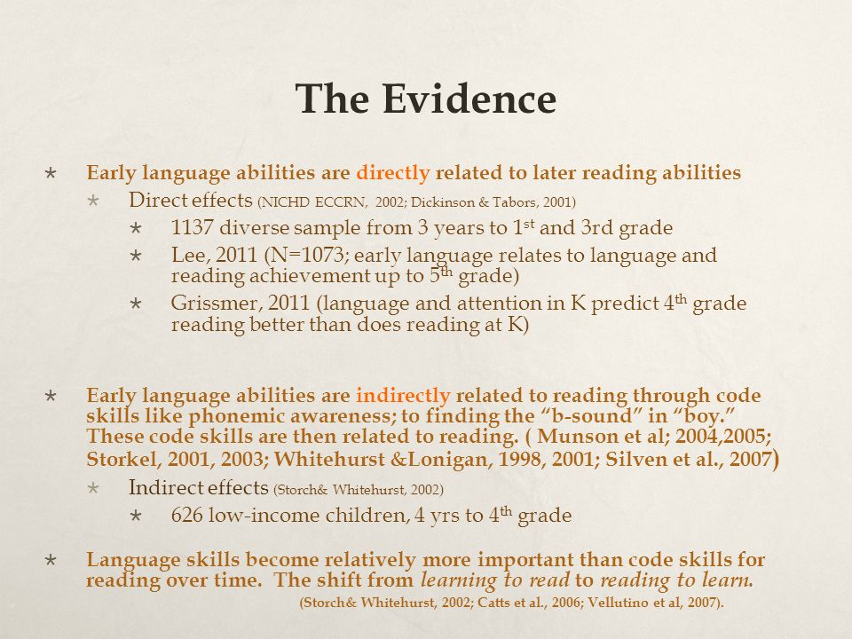 Language At 3 Predicts 3rd Grade >> Language For Literacy Preparing Our Children For 3rd Grade Reading