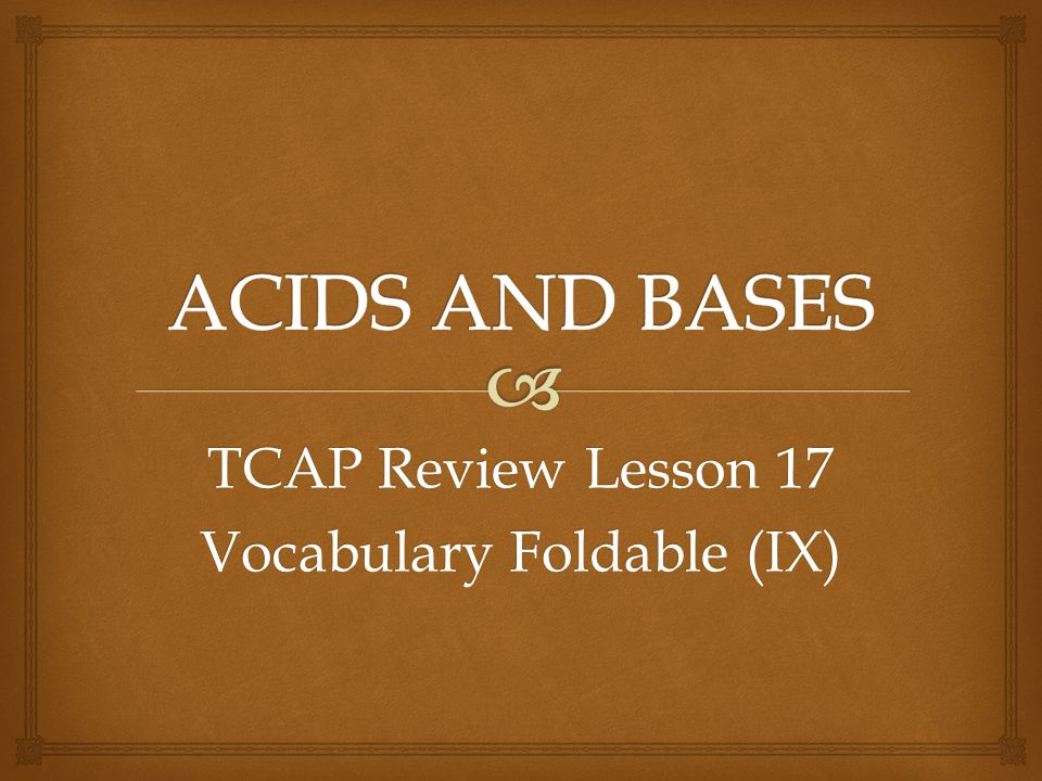 TCAP Review Lesson 17 Vocabulary Foldable (IX)