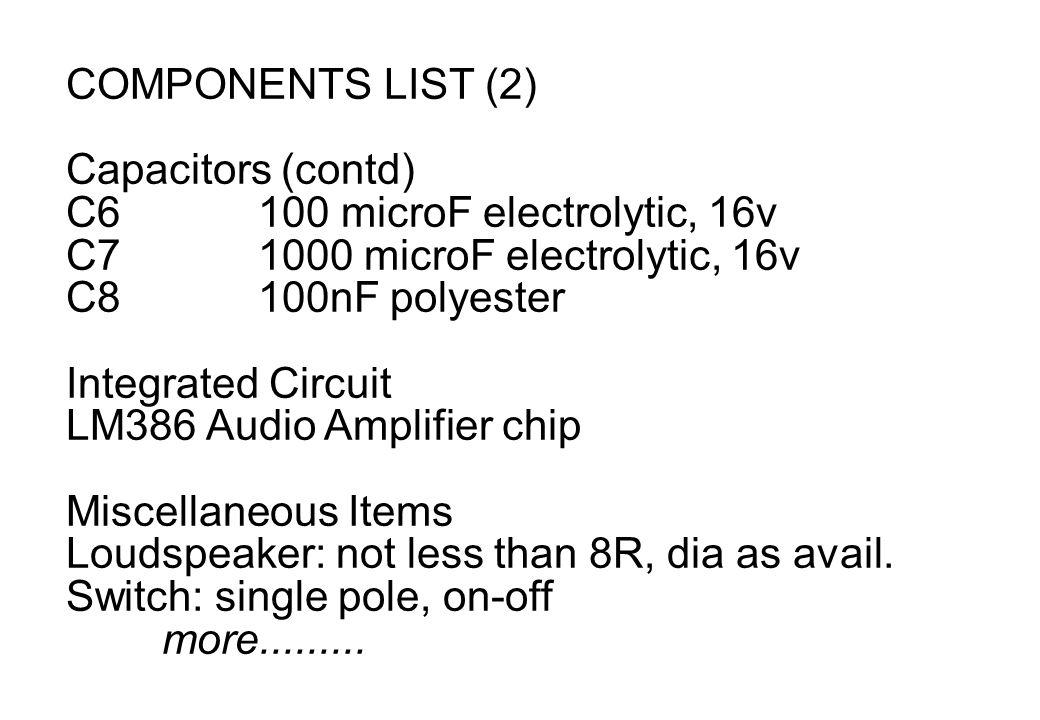 LM386 AF Amplifier Project - ppt video online download