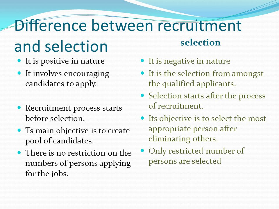 RECRUITMENT AND SELECTION - ppt video online download