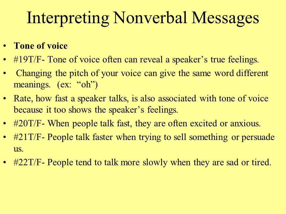 Interpreting Nonverbal Messages