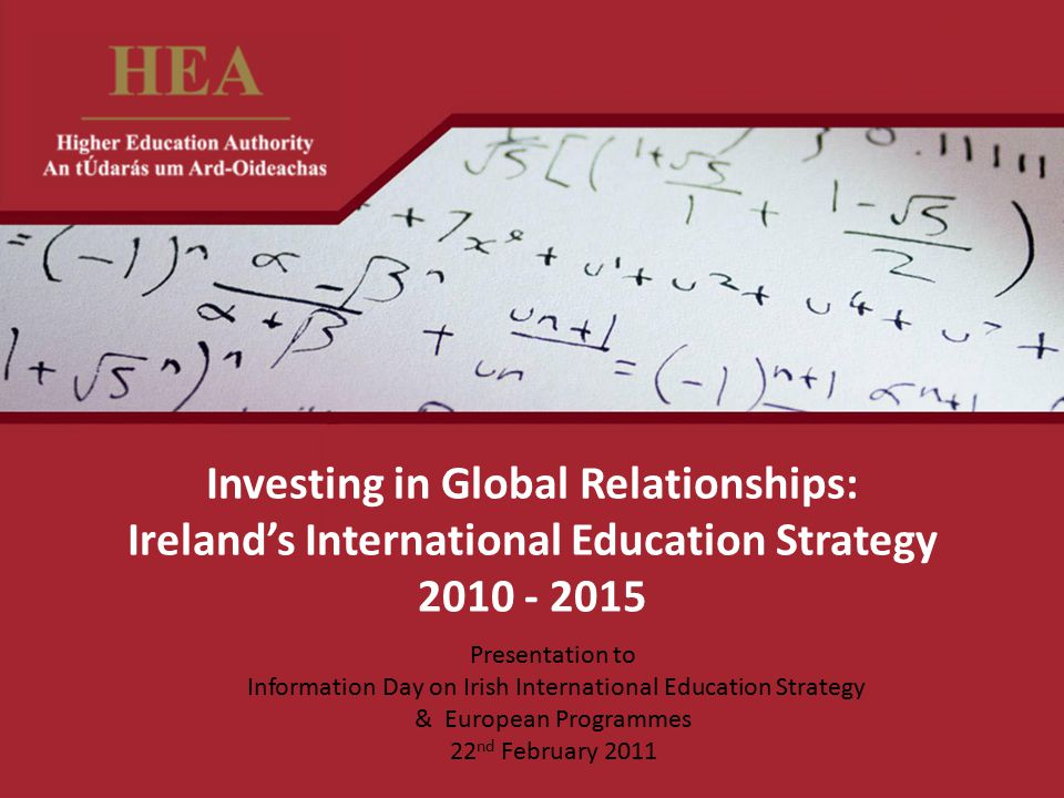 Information Day on Irish International Education Strategy