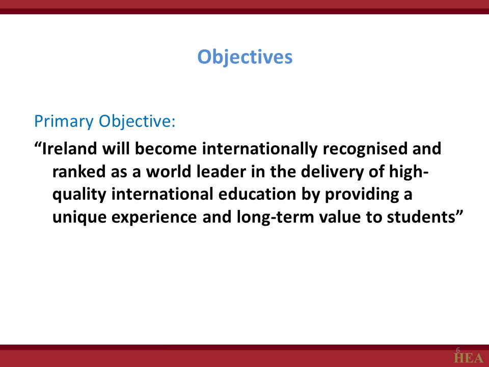 Objectives Primary Objective: