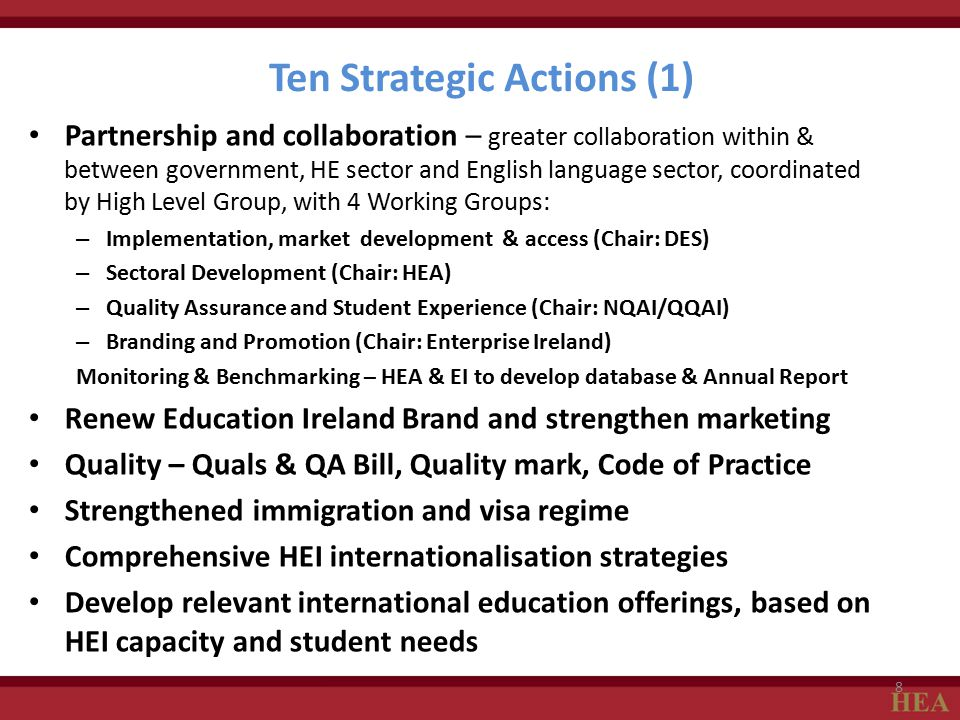 Ten Strategic Actions (1)