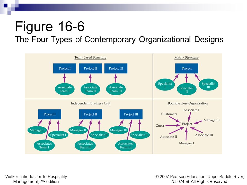 Figure 16-6 The Four Types of Contemporary Organizational Designs