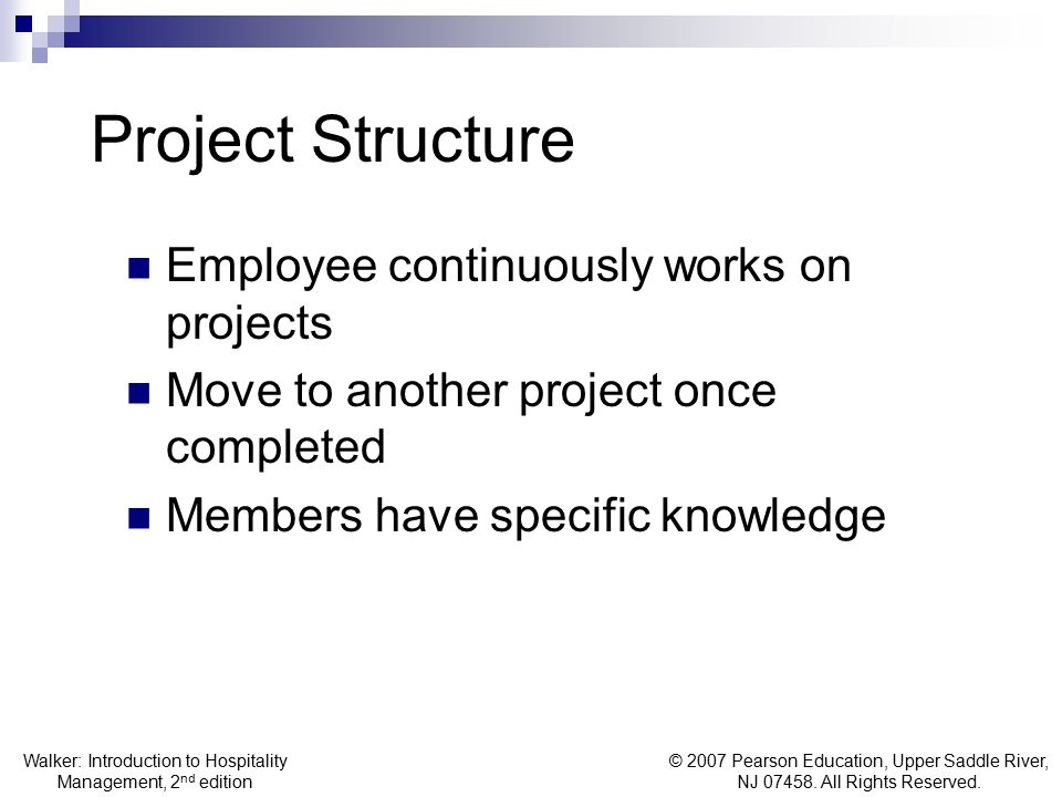 Project Structure Employee continuously works on projects