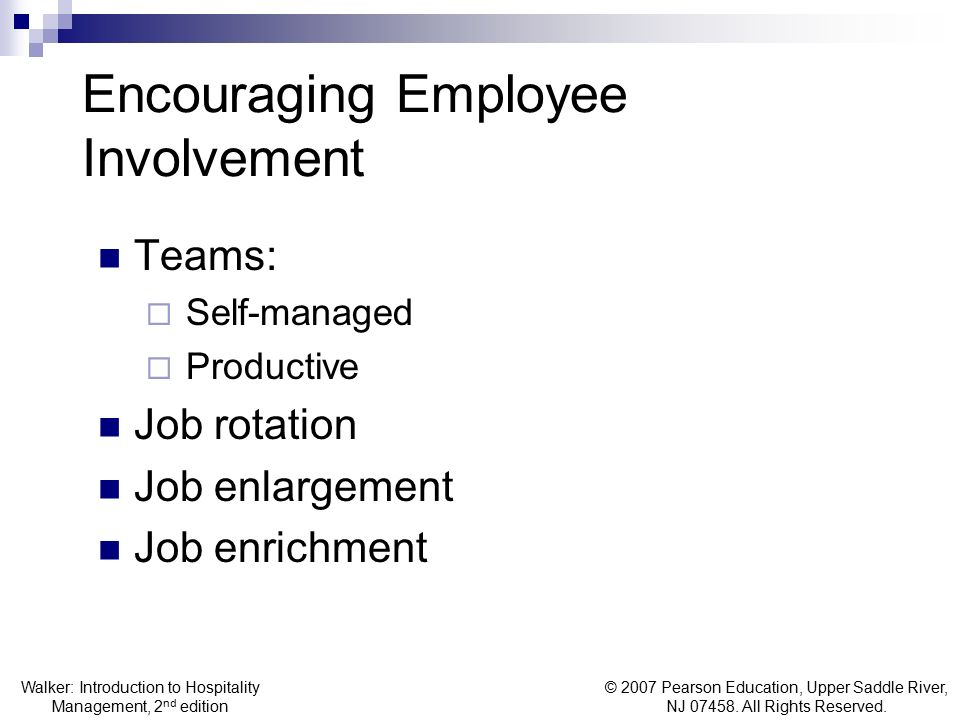 Encouraging Employee Involvement