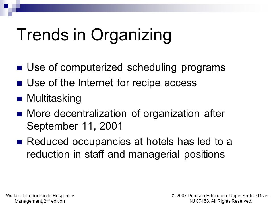 Trends in Organizing Use of computerized scheduling programs