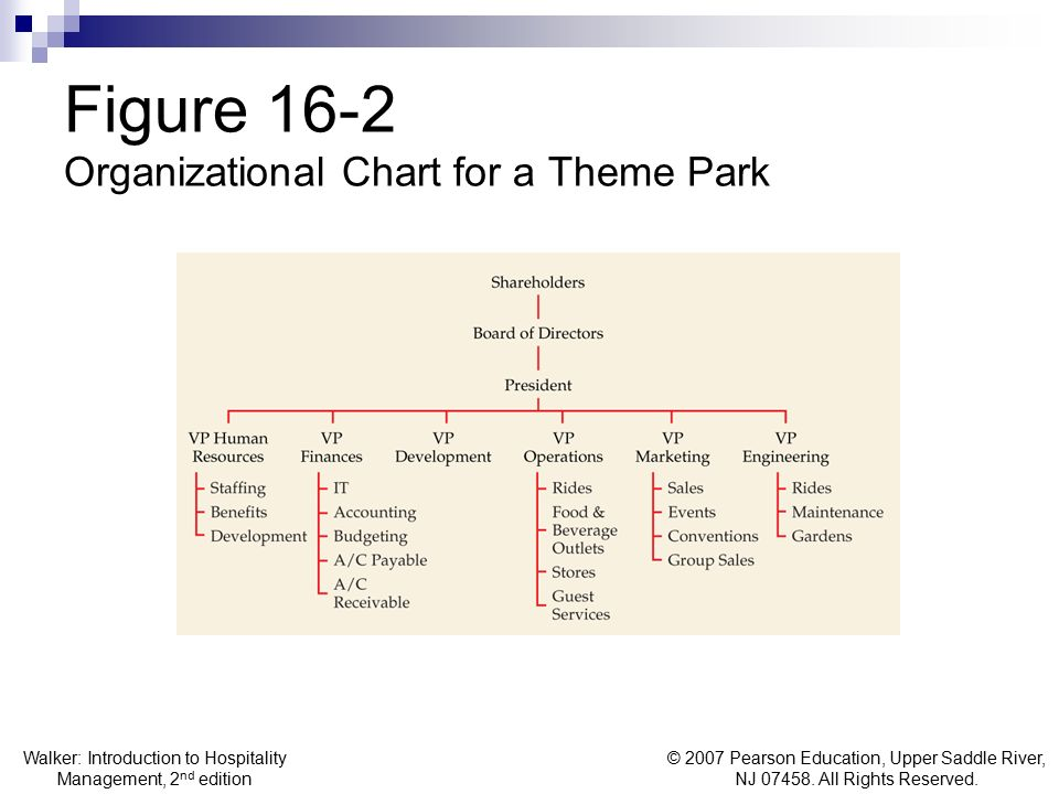 Figure 16-2 Organizational Chart for a Theme Park