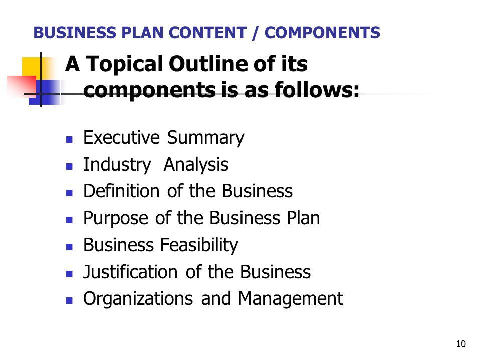 purpose business plan