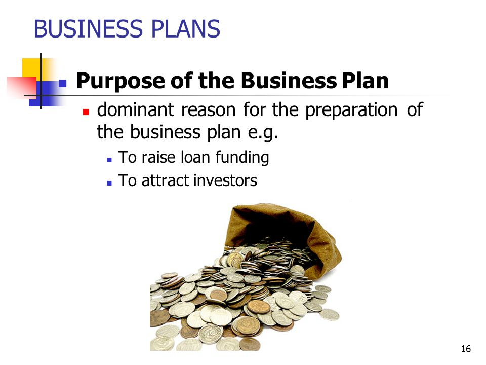 preparation of business plan