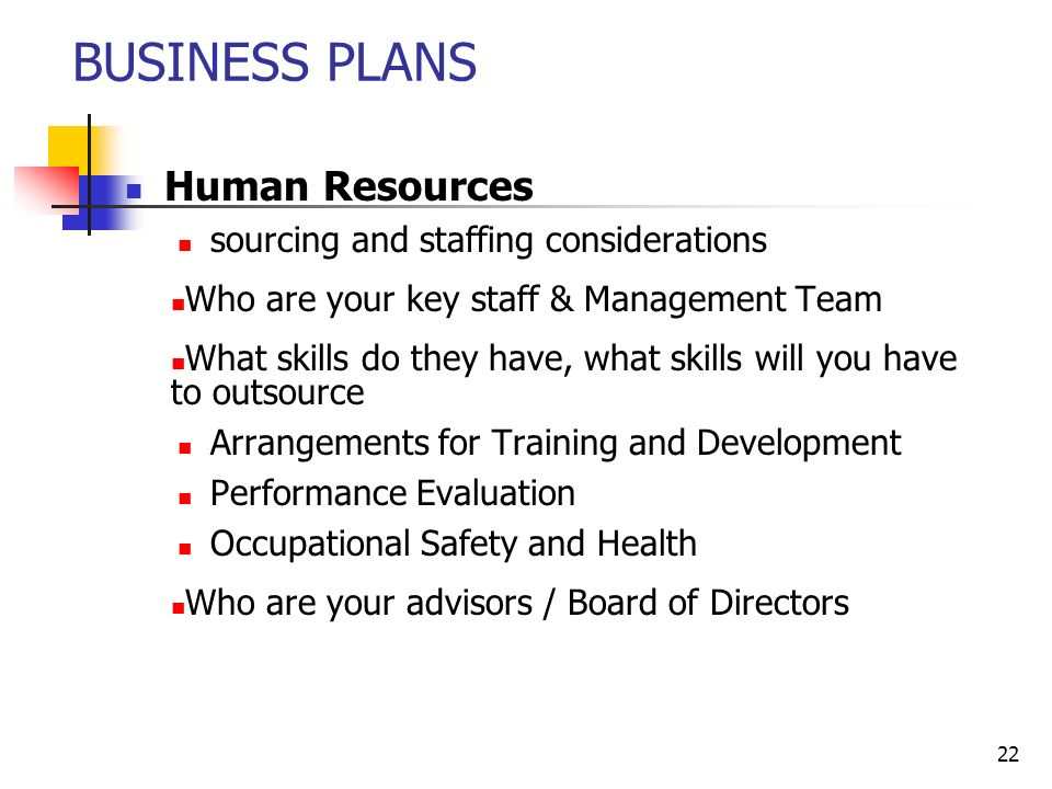 human resource business plan