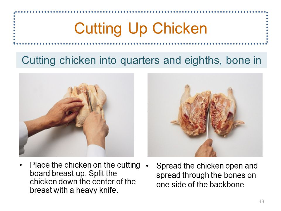 how to cut up a chicken with pulley bone