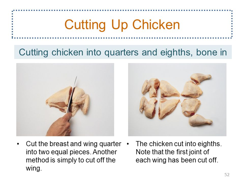 how to cut chicken breast with bone in half
