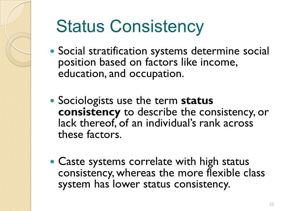 status stratification