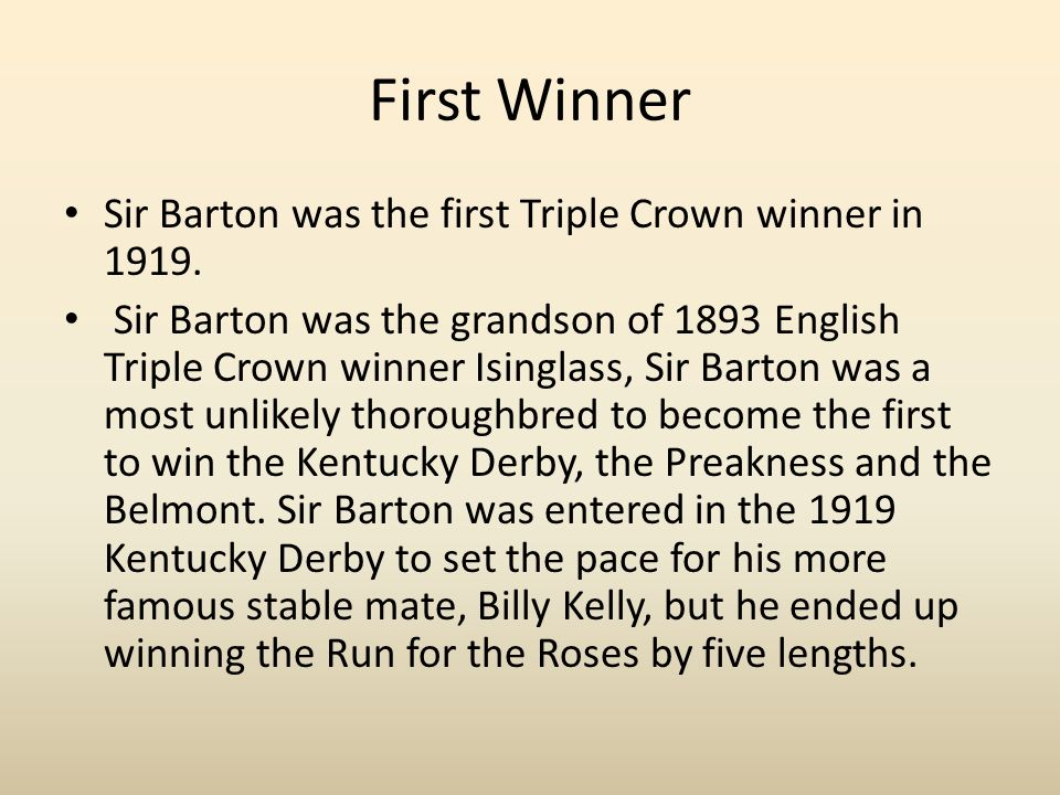Image result for sir barton wins the belmont stakes in