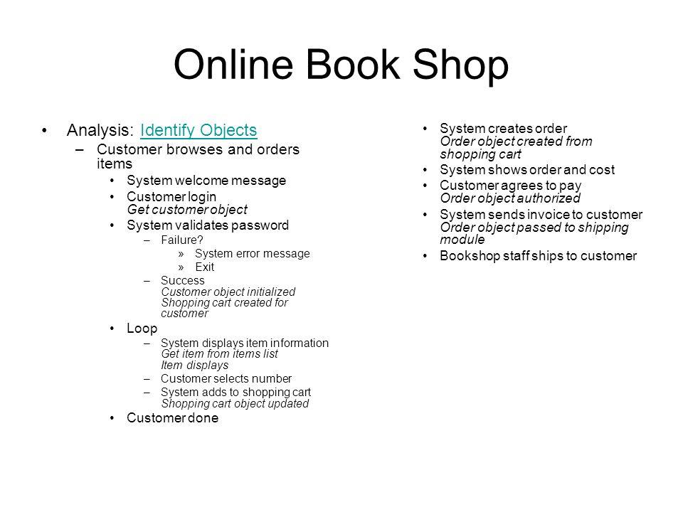 Online Book Shop Conceptualization Bookshop: Books, MusicCDs