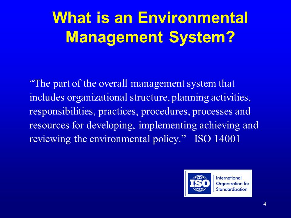 Introduction to Environmental Management Systems - ppt download