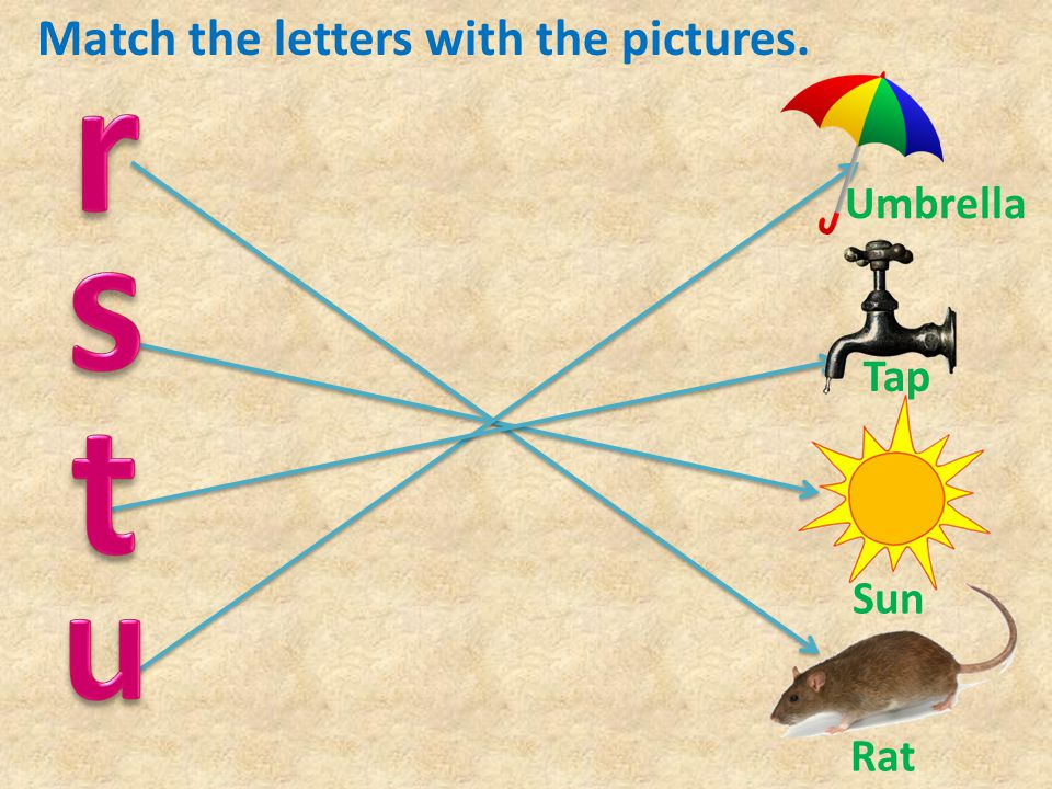 Match the letters with the pictures.