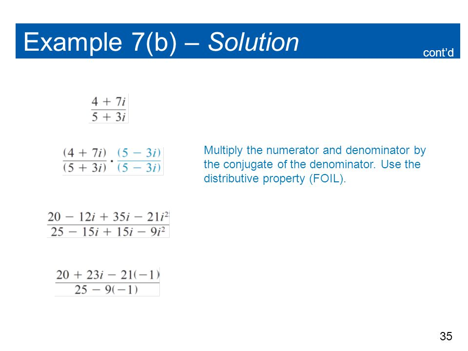 Example 7(b) – Solution cont'd