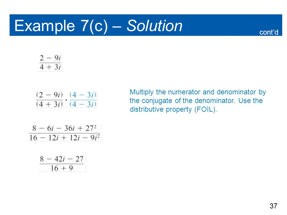 Example 7(c) – Solution cont'd