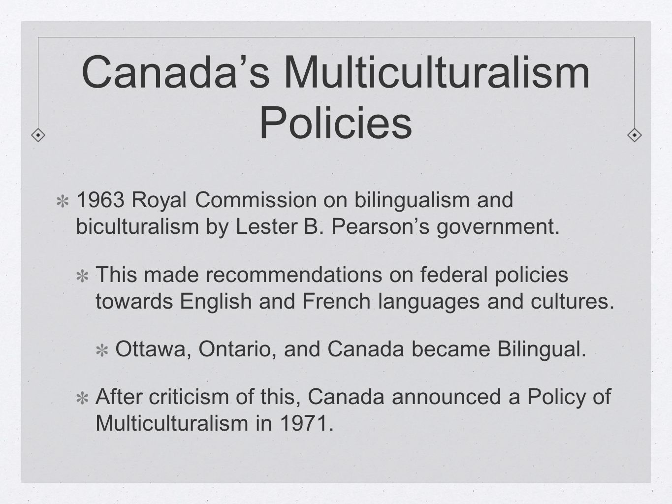 history of multiculturalism in canada