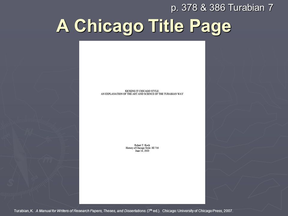 chicago title page