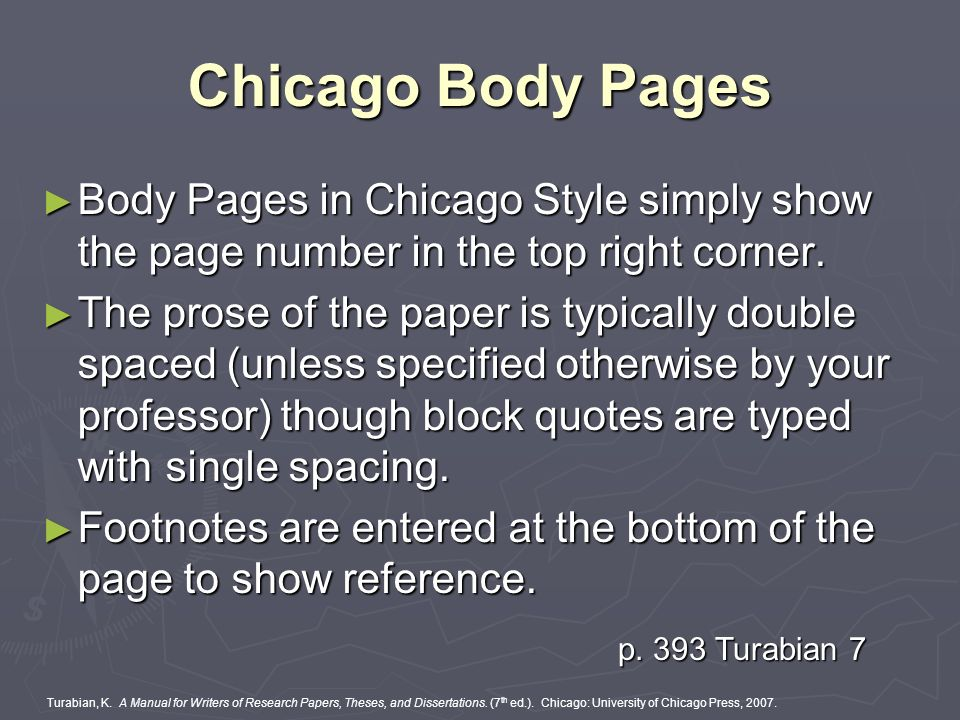 chicago style block quote