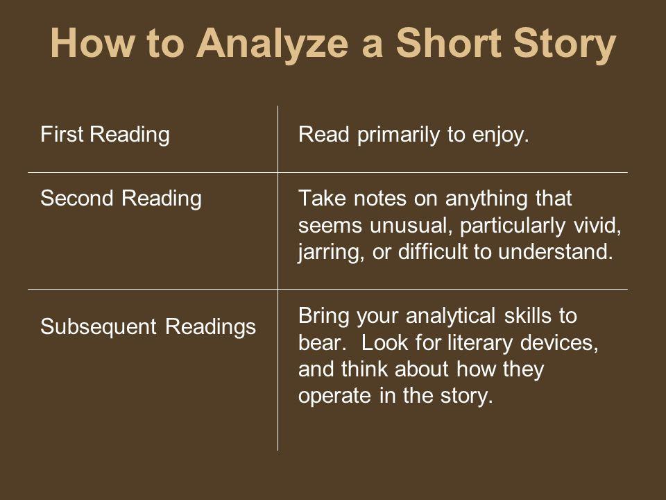 how do you analyze a story