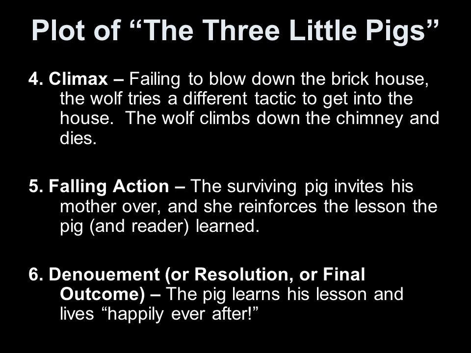 Plot Structure Diagram Three Little Pigs.The Short Story Ppt Download