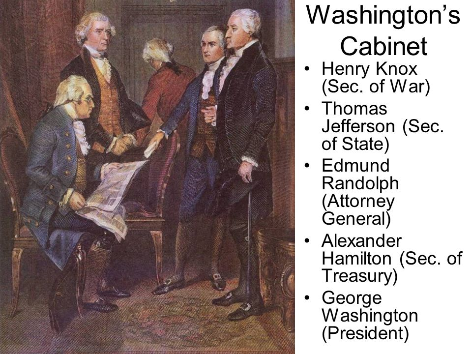 george washington cabinet ch 11 political developments in the early republic ppt 15792