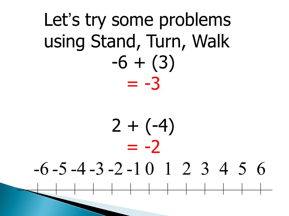 Let's try some problems using Stand, Turn, Walk
