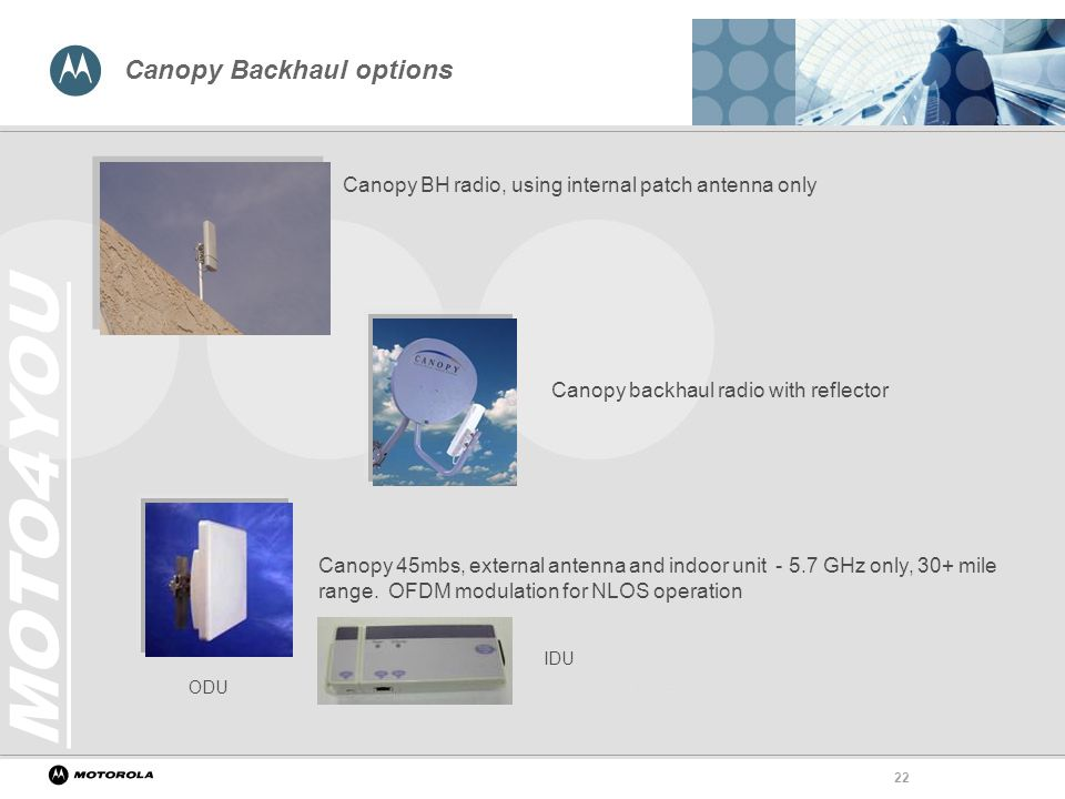 Canopy Backhaul options  sc 1 st  SlidePlayer & Motorola Canopy Wireless Broadband Platform - ppt video online download